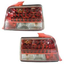 1992-1998 BMW E36 4DR 3-Series Custom Disco Clear Lens LED Taillights - Red