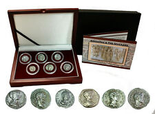 """Three Julias"" The Most Powerful Woman of Ancient Rome 6 - SILVER Coins in Box"