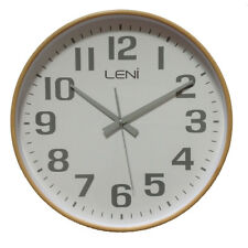 Leni Wood Wall Clock White - Large 40.5cm