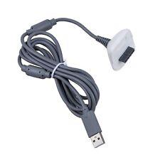 Cable de carga USB para Xbox 360 Controlador Gamepad Gris