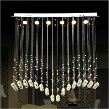 K9 Crystal Raindrop Pendant Lamp Ceiling Light LED Chandelier Lightis Modern