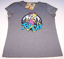 Hanna Barbera Top Cat Ladies Grey Printed T Shirt Size XL New