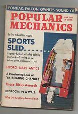 Popular Mechanics Magazine Mar 64  Sports Sleds