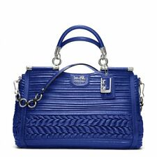 $1,200 NWT Coach Madison Pleated Gathered Leather Caroline 19848 SV/Ultramarine