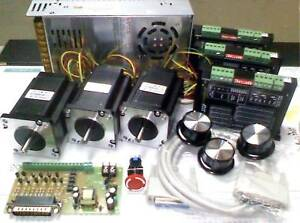 Cnc Milling Machine PC Mach3 EMC2 3 Axis Kit NEMA 23 MICRO Step 3 Ph 1.5m cable