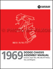 1969 Dodge Super Bee and Coronet Chassis Factory Assembly Manual 440 500 RT