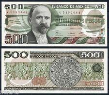 MEJICO MEXICO 500 Pesos 1983  Francisco Ignacio Madero  Pick 79 a  SC / UNC