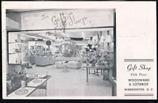 WASHINGTON DC Woodward and Lothrop Dept Store Gift Shop Woodie's Vtg Postcard