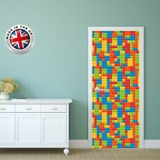 DS2 DOOR FRIDGE CUBOARD SKIN COVER LEGO BLOCK STICKER WRAP SCENERY VIEW MURAL