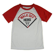 Under Armour Boys S/S White & Red Walk Off Hero Top Size 5