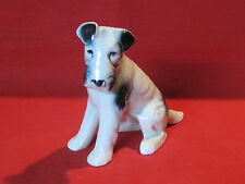 Large vintage porcelain Fox Terrier dog figurine
