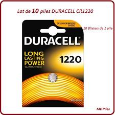 Set di 10 batterie pulsanti CR1220 litio Duracell