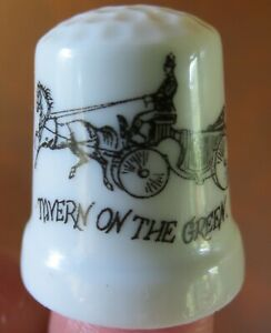 Tavern on the Green New York Restaurant Hanson Carriage China Thimble