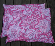 Pottery Barn Kids Bright Pink Floral PILLOWCASE PAIR TROPICAL Aloha Surf Cotton