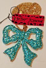 Beautiful Betsey Johnson Large Blue Bow Pendant A-A412