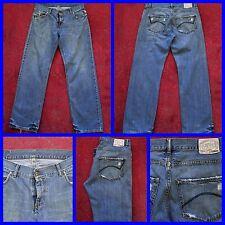 """Dickies Mid Wash Loose Fit leggermente Distressed Jeans Gamba Dritta W 33"""" X L 32"""""""