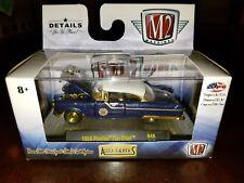M2 Machines Auto Thentics 1955 Pontiac Star Chief Blue R49 GOLD CHASE *NEW*