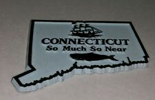 Vintage Connecticut So Much So Near Whale Watching Ship htf Refrigerator magnet