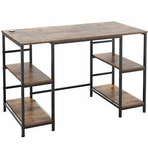 Corner Computer Desk  PC Table Workstation Home Office Study Furniture Metal