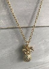 Gold Plated Pineapple Fruit Necklace Brand New in Gift Bag