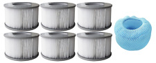 More details for mspa 12x 90 pleats filter cartridges 2 mesh cover strainer hot tub spa accessory