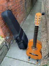 More details for mervi rafael molina 7/8 spanish guitar + pickup + pod hard case (see video link)