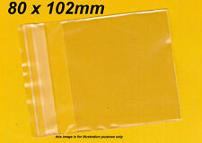 100pcs Clear Plastic Bags 80 x 102mm Resealable, Cello, Packaging Reseal