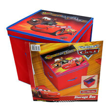 NEW 33x33cm Disney Pixar Cars McQueenCollapsible Storage Box Toy Organiser