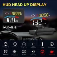 HUD Head Up Display Car GPS Gauge Digital Speedometer Windshield Speed Projector