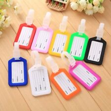 10x Travel Luggage Bag Tag Name Address ID Label Plastic Suitcase Baggage Tag Red