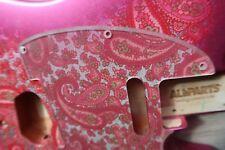 60s 70's USA Fender Pink Paisley Telecaster Pickguard  8 hole Tele
