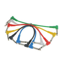 Pack Of 6pcs Durable Supple Guitar Patch Cables Effects Pedal Cords 21cm New