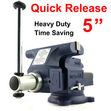 "Quick Release 5"" 125mm Heavy Duty Engineers Bench Vice 6"" Opening Semi Precision"