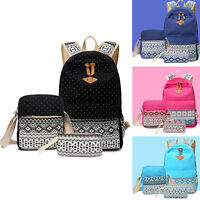 Women's Teen Vintage Rucksack Shoulder Bag Backpack for School Book Canvas Hot