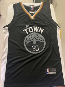NBA The Town #30 Curry Black Jersey Size M