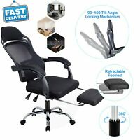 Gaming Chair Office Computer Desk Racing Ergonomic Recliner Seat Swivel Footrest