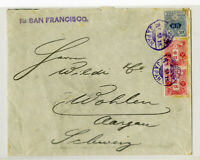 Japan Stamps 1915 Yokohama Cover to Germany Via Ship Mail