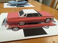 Papercraft Cadillac Sedan deville Red color Paper Car EZU-build Toy Model car