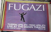 2001 Rock Roll Concert Large Poster Fugazi Lindsey Kuhn S/N #230