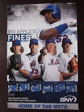 "2017 New York Mets SNY Ad Photo Poster Sked 12"" x 18"" Ex/Nr Mint Cespedes Matz"