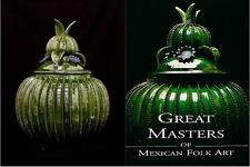BOOK COVER CERAMIC MEXICAN GREEN PINEAPPLE HILARIO ALEJOS HOME DELIVERY LA-SD