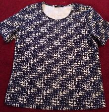 Blue & White Scuba Thicker Casual/ Smart Shift Top. George. Size 10