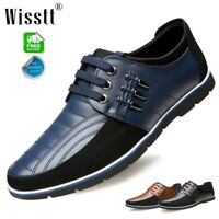 Men's Oxford Splicing Leather Shoes Casual Wedding Dress Up Work Formal Dress
