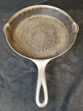 Vintage VICTOR GRISWOLD 722 #8 Cast Iron Skillet Heat Ring Rare Nickel Plated