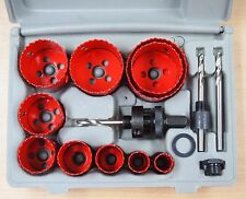 "14pc Bi-Metal Hole Saw Cutter Set 3/4"" - 2-1/2"""