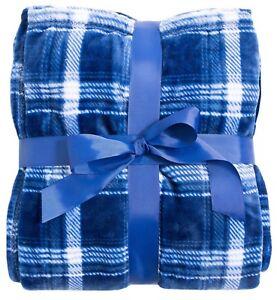 Plush Blanket Sofa Blanket with Fleece Lined Travel Blanket