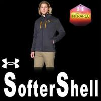 UNDER ARMOUR UA STORM 2 GOLDGEAR INFRARED SOFTERSHELL JACKET 1247045-008 MEDIUM