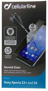Cellularline Second Glas Sony Xperia Z3+ Z4 Display Schutz Hartglas Folie 9H 430