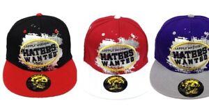 Snapback Baseball Time is Money Haters Wanted Hip Hop Vintage Flat Peak Hat