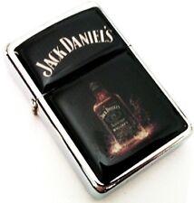 JACK DANIEL'S Whiskey Bottle Smoking Cigarette Petrol Lighter Metal Merchandise